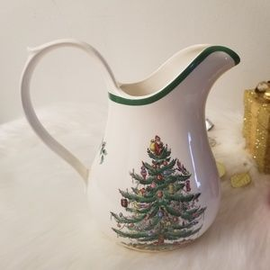 Spode England Christmas Tree Pitcher Water Jug